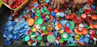 Plastic cap bottles recycle