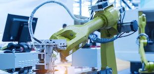 Robotic arm in production